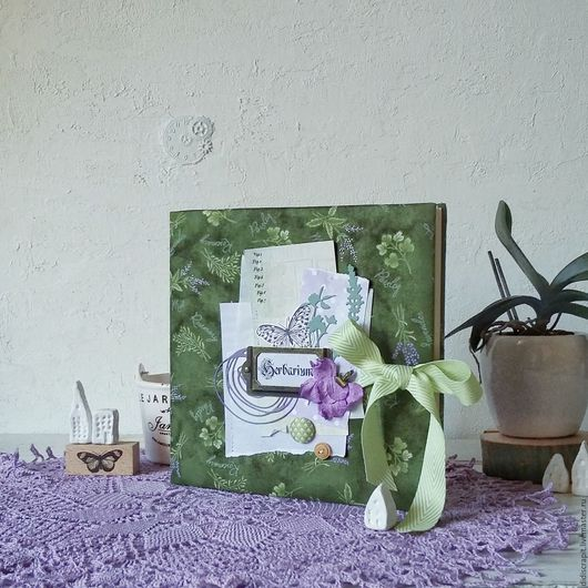 Блокноты ручной работы. Ярмарка Мастеров - ручная работа. Купить Альбом для гербария. Handmade. Зеленый, засушенные растения, для растений