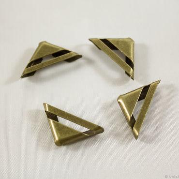 Materials for creativity handmade. Livemaster - original item Angles, metal, color antique bronze 4-piece. Handmade.