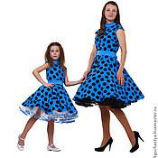 Одежда ручной работы. Ярмарка Мастеров - ручная работа Платья для мамы и дочки Анастасия, комплект. Handmade.