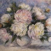 Картины и панно handmade. Livemaster - original item Painting wool Peonies in a vase. Handmade.