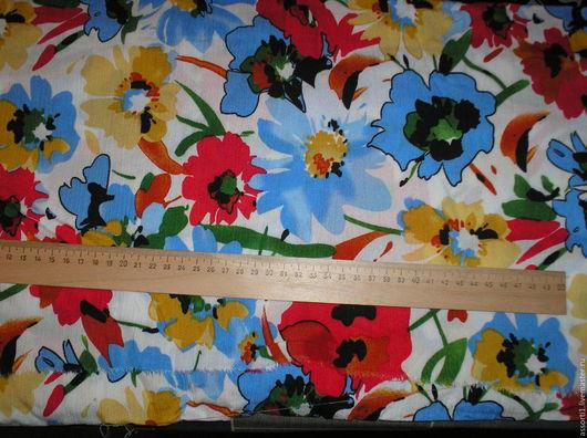 """Шитье ручной работы. Ярмарка Мастеров - ручная работа. Купить Марлёвка """"Цветы на белом фоне"""".. Handmade. Комбинированный, для сарафана"""