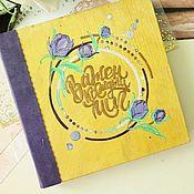Фотоальбомы ручной работы. Ярмарка Мастеров - ручная работа Фотоальбомы: Альбом из дерева для фото. Handmade.