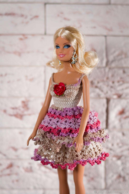 Одежда для кукол ручной работы. Ярмарка Мастеров - ручная работа. Купить Сарафан для Барби. Handmade. Одежда для куклы, трикотажный сарафан