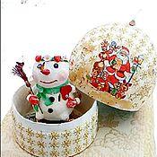 Сувениры и подарки ручной работы. Ярмарка Мастеров - ручная работа Снеговушка-копилка. Handmade.