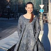 Одежда handmade. Livemaster - original item Felted dress of the Wind from the North. Handmade.