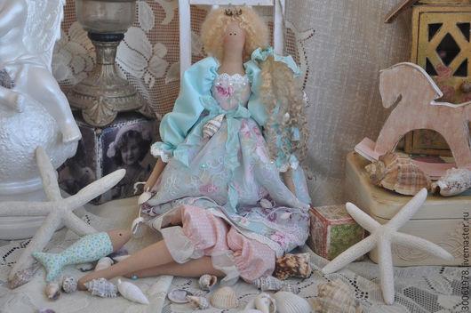 """Куклы Тильды ручной работы. Ярмарка Мастеров - ручная работа. Купить Принцесса в стиле Тильда """"Морской бриз!"""". Handmade. Мятный"""