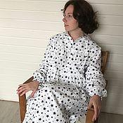 Комбинации ручной работы. Ярмарка Мастеров - ручная работа Теплая ночная рубашка из фланели. Handmade.