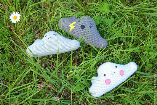 Развивающие игрушки ручной работы. Ярмарка Мастеров - ручная работа. Купить Три облачных настроения. Handmade. Серый, облако, небо