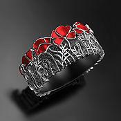 Украшения handmade. Livemaster - original item Ring: Sharming poppies. Handmade.