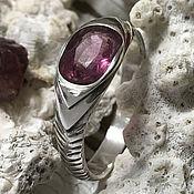 Украшения handmade. Livemaster - original item Silver ring with natural Purple Sapphire. Handmade.