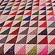 """Текстиль, ковры ручной работы. Пэчворк покрывало """"Треугольники 2"""" №38. Etnika магазин-мастерская. Ярмарка Мастеров. Подарок, кантри"""