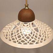 Для дома и интерьера handmade. Livemaster - original item Ceramic chandelier with one interior light on the suspension