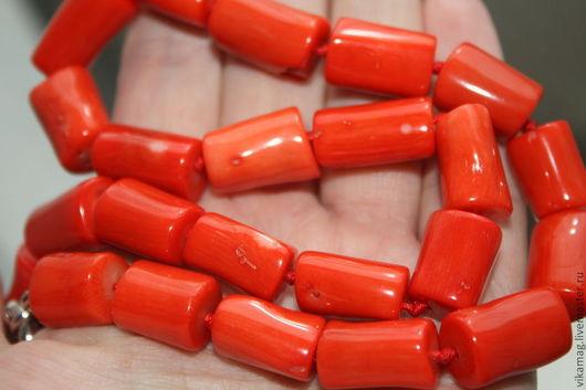 Для украшений ручной работы. Ярмарка Мастеров - ручная работа. Купить Коралл оранжевые трубочки. Handmade. Коралл, кораллы