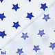 Шитье ручной работы. Немецкий хлопок синие звездочки. Ткани из Германии (Hobbyundstoff). Интернет-магазин Ярмарка Мастеров. Королевский синий