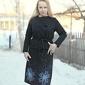 """Одежда ручной работы. Ярмарка Мастеров - ручная работа Вязаная юбка """"Холодные цветы"""". Handmade."""