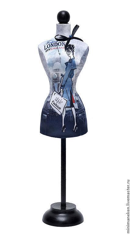 """Статуэтки ручной работы. Ярмарка Мастеров - ручная работа. Купить Статуэтка Мини-манекен женский """"LONDON"""". Handmade. Синий, статуэтка"""