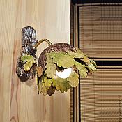Для дома и интерьера handmade. Livemaster - original item Autumn oak wall lamp for porch. Handmade.