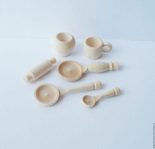 Кукольный дом ручной работы. Ярмарка Мастеров - ручная работа. Купить Посуда (миниатюра). Handmade. Бежевый, скалка, чугунок