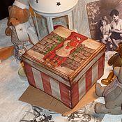 """Для дома и интерьера ручной работы. Ярмарка Мастеров - ручная работа """"Рождественское письмо"""" шкатулка. Handmade."""