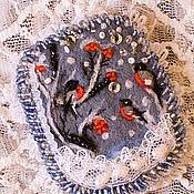 Украшения ручной работы. Ярмарка Мастеров - ручная работа Брошь со снегирями. Handmade.
