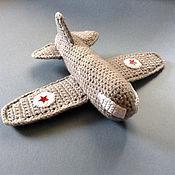 Куклы и игрушки ручной работы. Ярмарка Мастеров - ручная работа самолётик вязаный. Handmade.