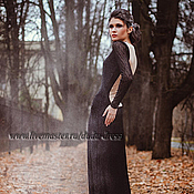 Одежда ручной работы. Ярмарка Мастеров - ручная работа Платье кружевное в пол с бежевой спинкой. Handmade.