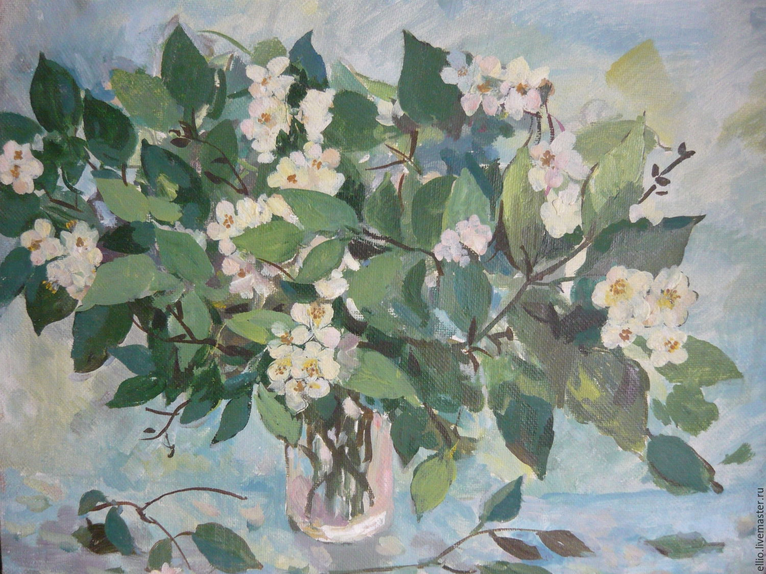 Jasmine Oil Painting On Canvas Shop Online On Livemaster With