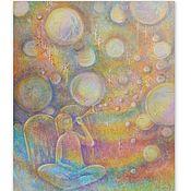 Картины и панно handmade. Livemaster - original item Painting with an angel on canvas
