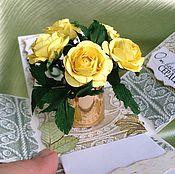 Открытки ручной работы. Ярмарка Мастеров - ручная работа Мэджик бокс с розами. Handmade.