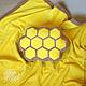 Текстиль, ковры ручной работы. Ярмарка Мастеров - ручная работа. Купить Подушка-пуф СОТЫ. Handmade. Желтый, интерьер