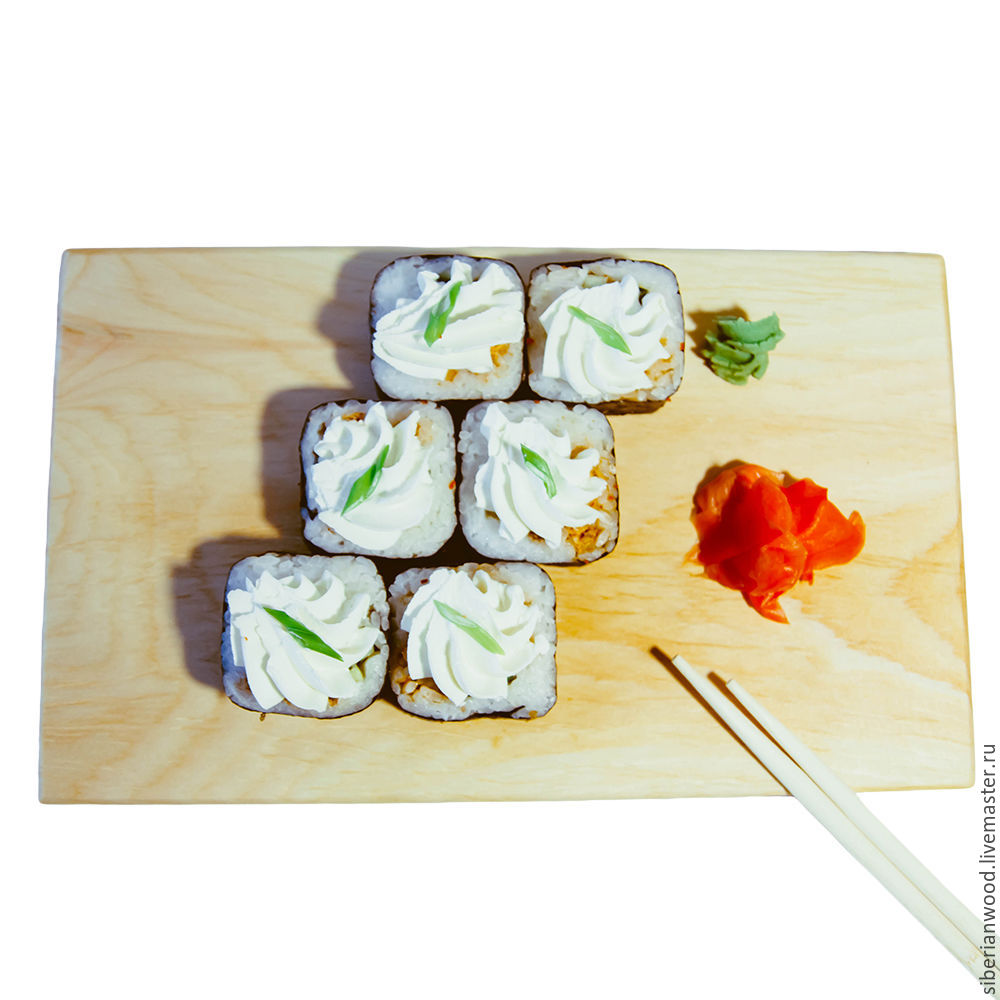 Japanese SUSHI plate Siberian Cedar cheese plate RD3, Plates, Novokuznetsk,  Фото №1