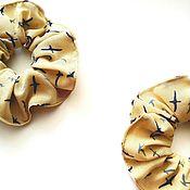 Резинка для волос ручной работы. Ярмарка Мастеров - ручная работа Резинка для волос: Резинки для волос кремовые. Чайки.. Handmade.