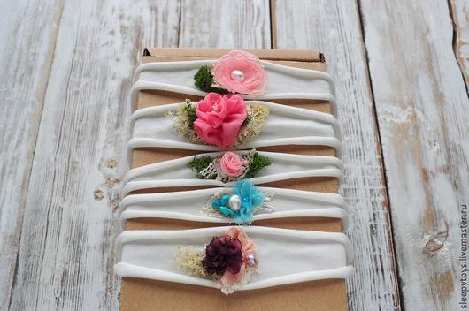 Для новорожденных, ручной работы. Ярмарка Мастеров - ручная работа. Купить Повязка на голову для фотосессии новорожденных розовый цветок (5). Handmade.