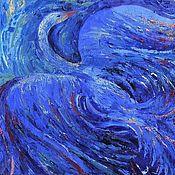 """Картины и панно ручной работы. Ярмарка Мастеров - ручная работа Картина маслом """"Синяя Птица"""" 60х60. Handmade."""