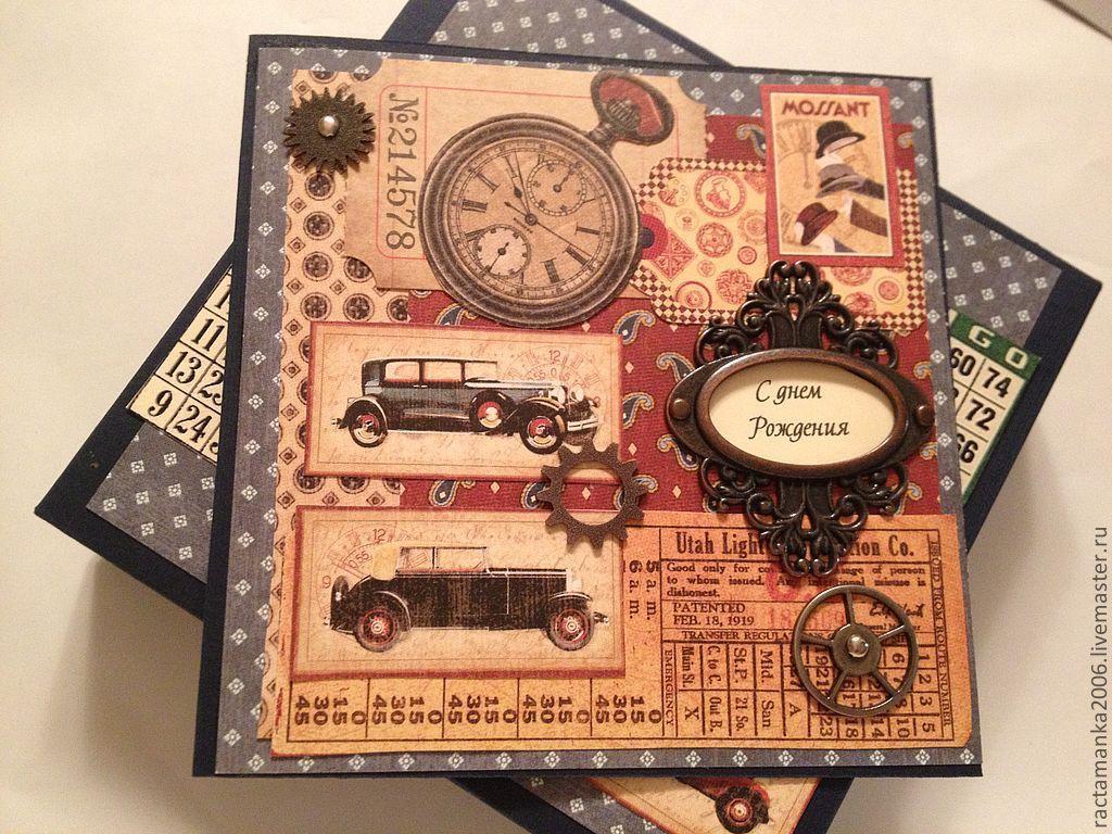 открытка для мужчины( в коробочке), Открытки, Москва,  Фото №1