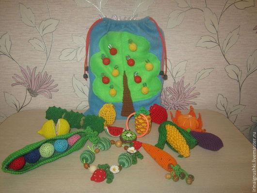 """Развивающие игрушки ручной работы. Ярмарка Мастеров - ручная работа. Купить Сенсорный мешочек """"Во саду ли в огороде"""" (авторская разработка). Handmade."""