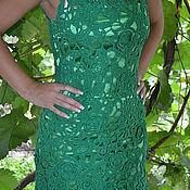 """Одежда ручной работы. Ярмарка Мастеров - ручная работа Платье """"Зелёный ажур"""". Handmade."""