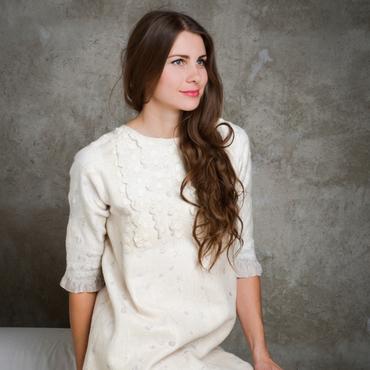 Одежда ручной работы. Ярмарка Мастеров - ручная работа Бохо туника-платье с рукавом. Handmade.