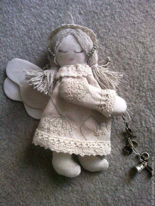 Коллекционные куклы ручной работы. Ярмарка Мастеров - ручная работа. Купить Ангел текстильный. Handmade. Бежевый, ангел, ангел-хранитель