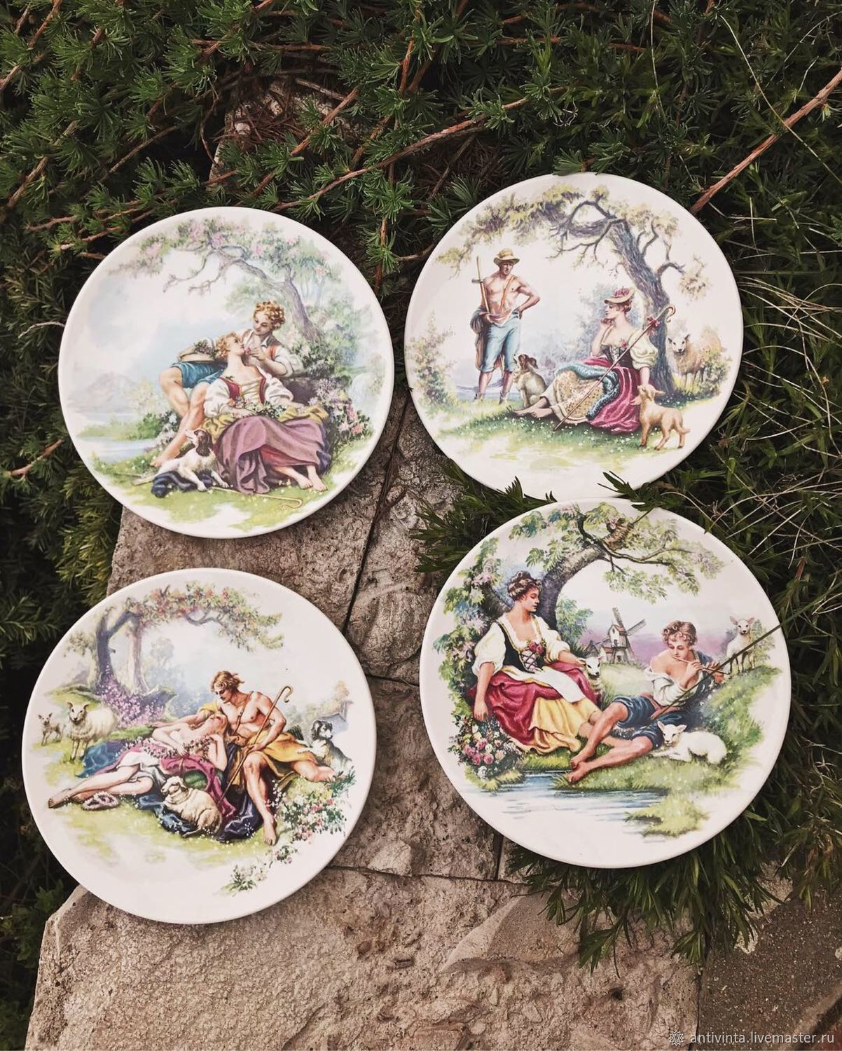 Pool set of dessert plates England, Vintage plates, Moscow,  Фото №1