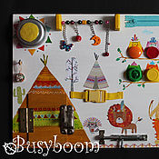 Куклы и игрушки ручной работы. Ярмарка Мастеров - ручная работа Индейский бизиборд. Handmade.