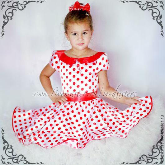 """Одежда для девочек, ручной работы. Ярмарка Мастеров - ручная работа. Купить Детское платье """"Стиляги"""" Арт.450. Handmade."""