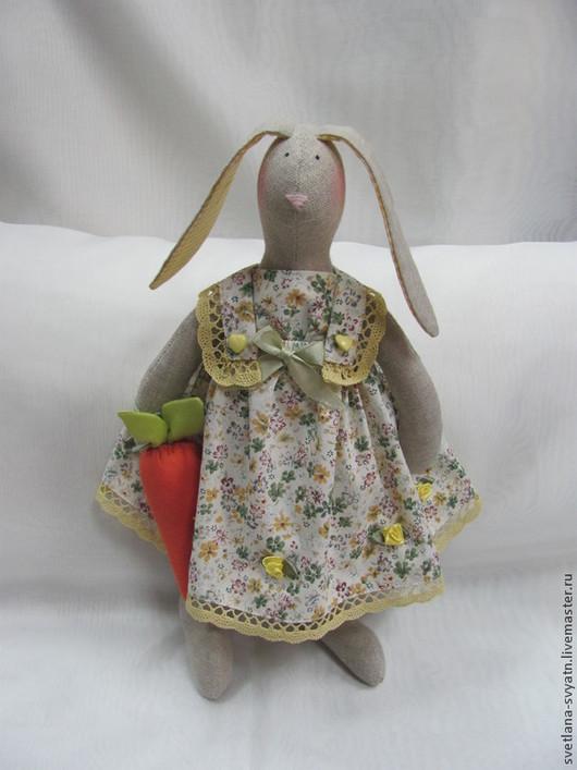 Куклы Тильды ручной работы. Ярмарка Мастеров - ручная работа. Купить Зайка Анфиса интерьерная кукла из льна в стиле Tilda. Handmade.