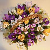 Цветы и флористика ручной работы. Ярмарка Мастеров - ручная работа Весенние крокусы. Handmade.