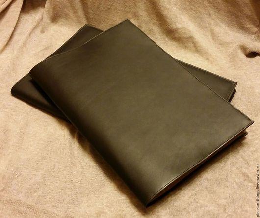 Блокноты ручной работы. Ярмарка Мастеров - ручная работа. Купить Обложка для тетради А4. Handmade. Черный, для эскизов, большой блокнот