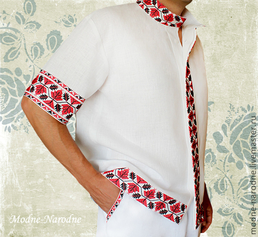 Рубашки с коротким рукавом ХМЕЛЬ  Мужские рубашки Сорочки мужские Белая рубашка Мужские сорочки Рубаха Стильные рубашки Модные рубашки Льняная рубашка  Творческое ателье Modne-Narodne.