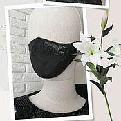 Аксессуары handmade. Livemaster - original item Mask with embroidery. Handmade.