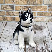 Подарки к праздникам handmade. Livemaster - original item a husky puppy drake (toy from felt). Handmade.
