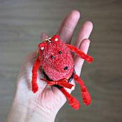 Куклы и игрушки ручной работы. Ярмарка Мастеров - ручная работа Красная лиса-балерина - войлочная лисичка - войлочная игрушка-подвеска. Handmade.