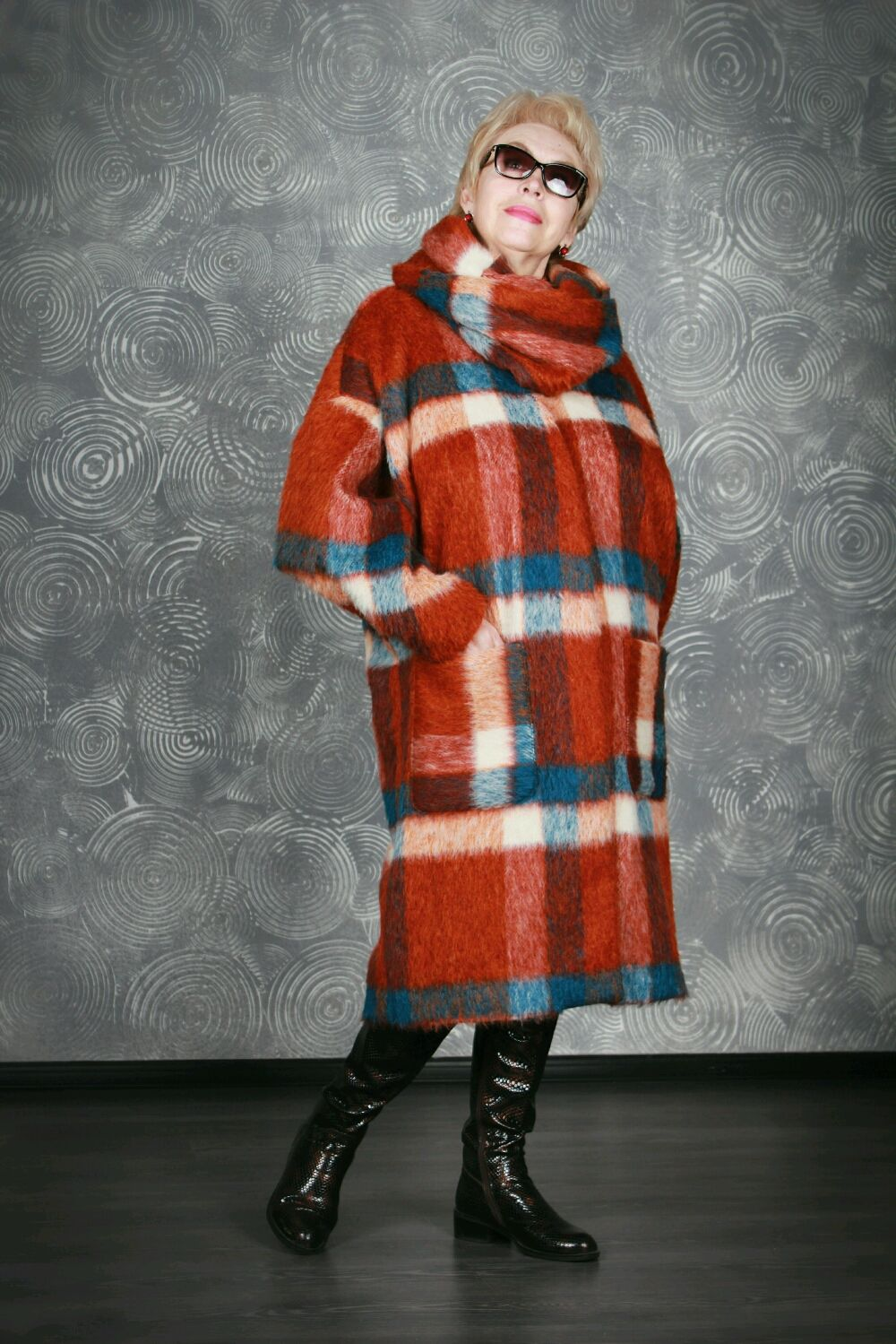 Oversize coat for full, Combination, Moscow,  Фото №1